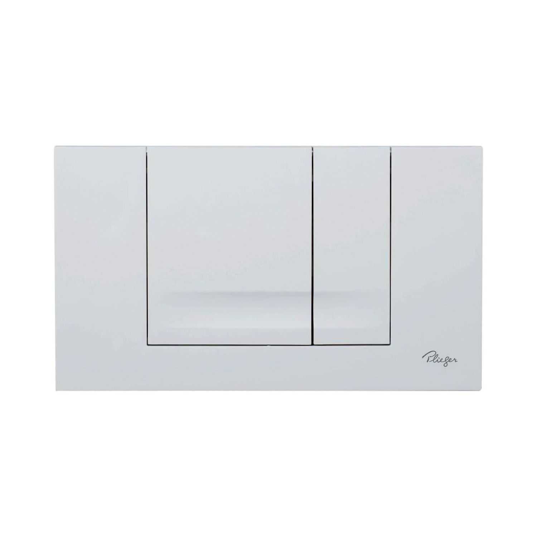 Plieger Compact bedieningspaneel voor frontbediening 2-knops wit