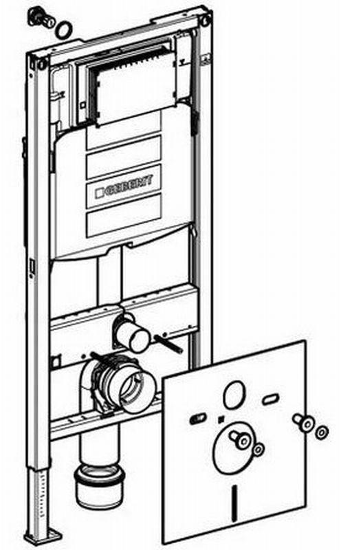 geberit duofix wc element h112 m reservoir up320 112cm standaard 111308005. Black Bedroom Furniture Sets. Home Design Ideas