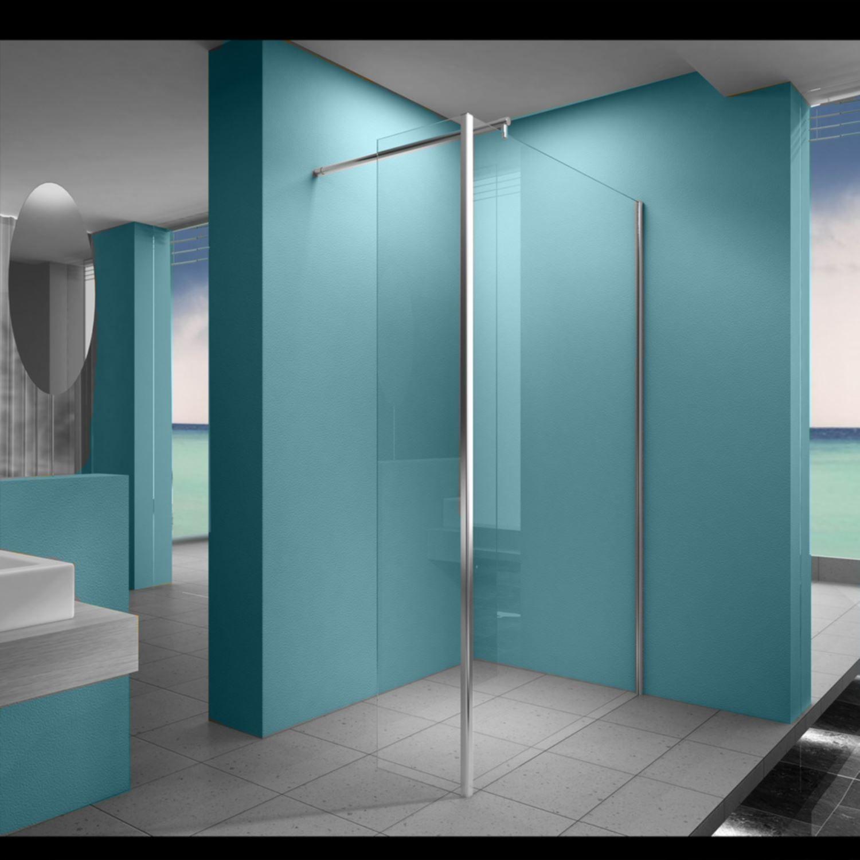 Sanitair-producten 10640 Inloopdouche Wiesbaden met zijwand 30cm 100x200cm 8mm NANO coating