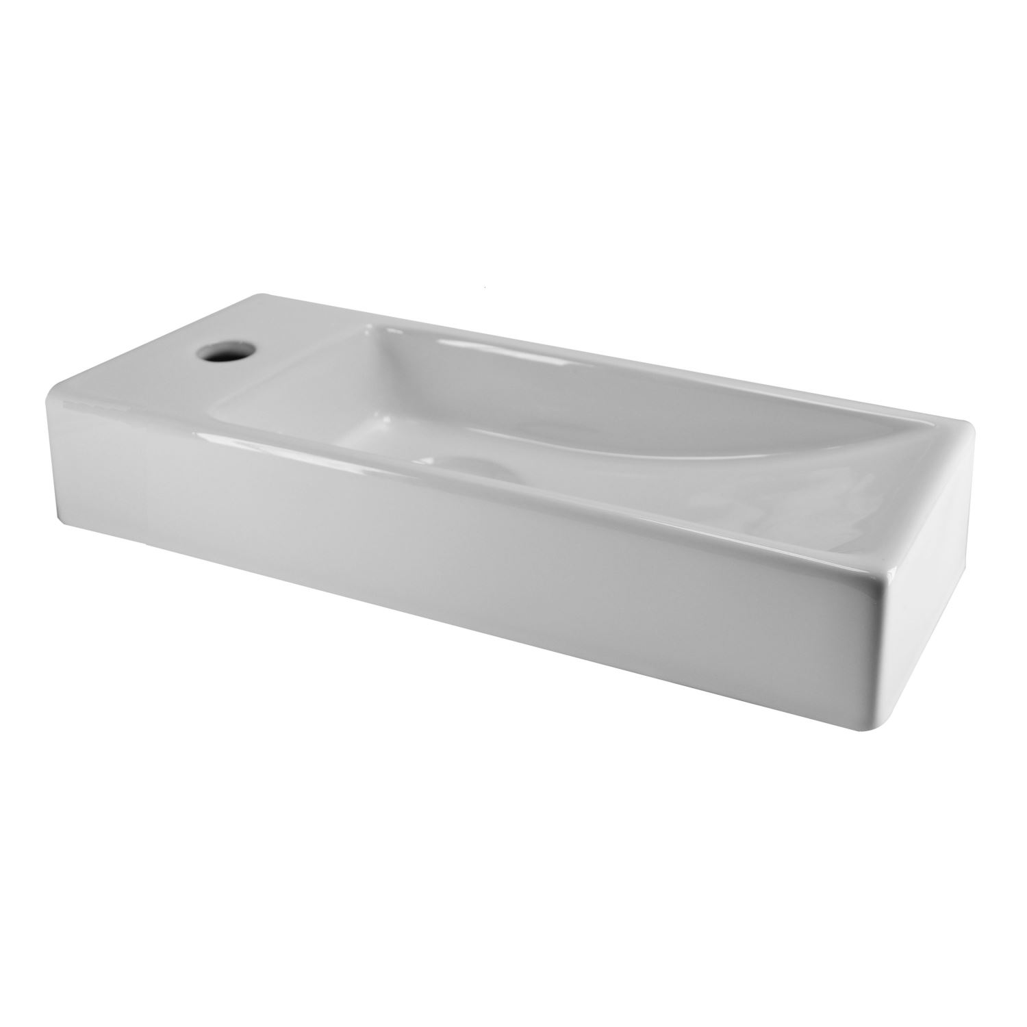 Wastafels 64305 Fontein Wiesbaden Trim Mini 38x14x8 cm Links
