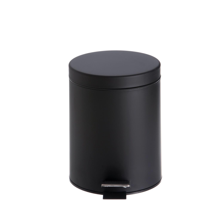 Afvalemmer Vrijstaand Allibert Street 5 Liter 26,8x21x27,5 cm cm Satijn Zwart