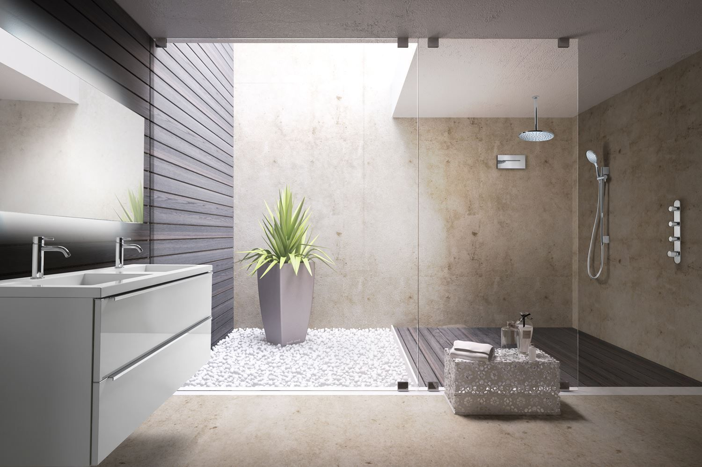 Cascade hotbath mate 30cm wand inbouw chroom tegels en badkamers