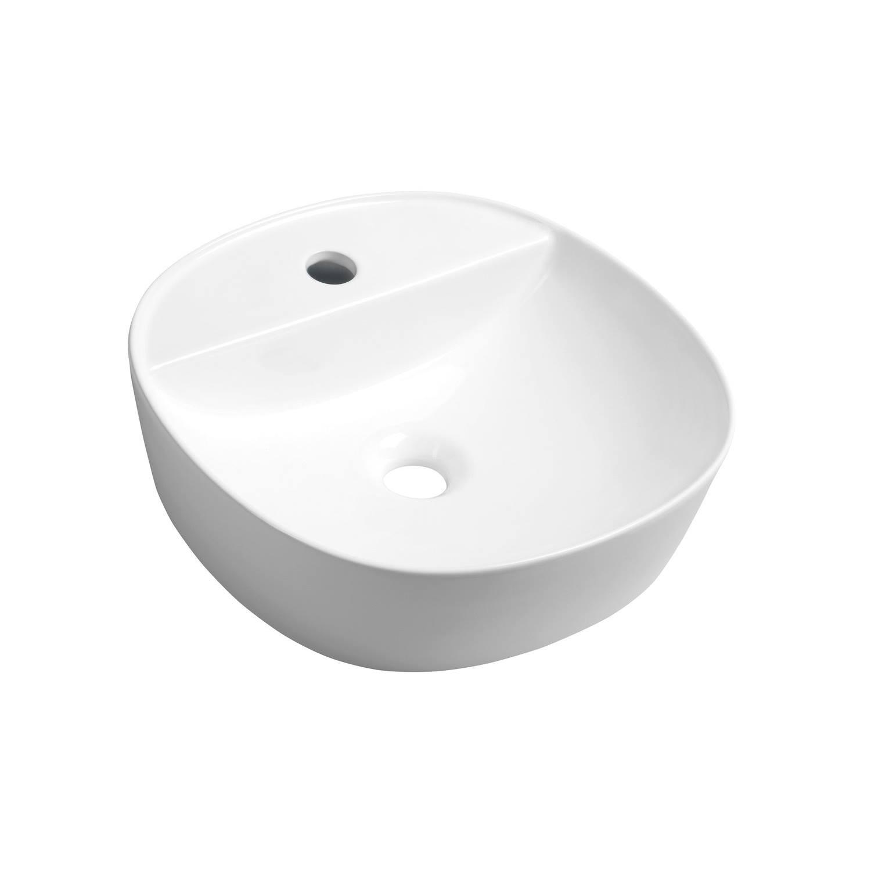 Waskom Opbouw Sapho Lugano Rond 41x11.5 cm Keramiek Wit
