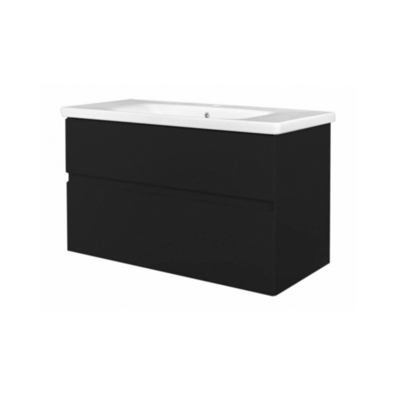 Badkamermeubel Best Design Quick Greeploze 100 cm Mat Zwart voordeel