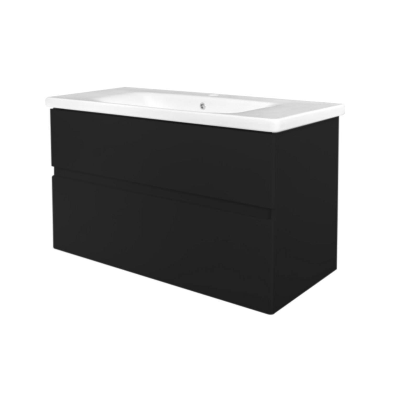 Badkamermeubel Best Design Quick Greeploze 80 cm Mat Zwart voordeel