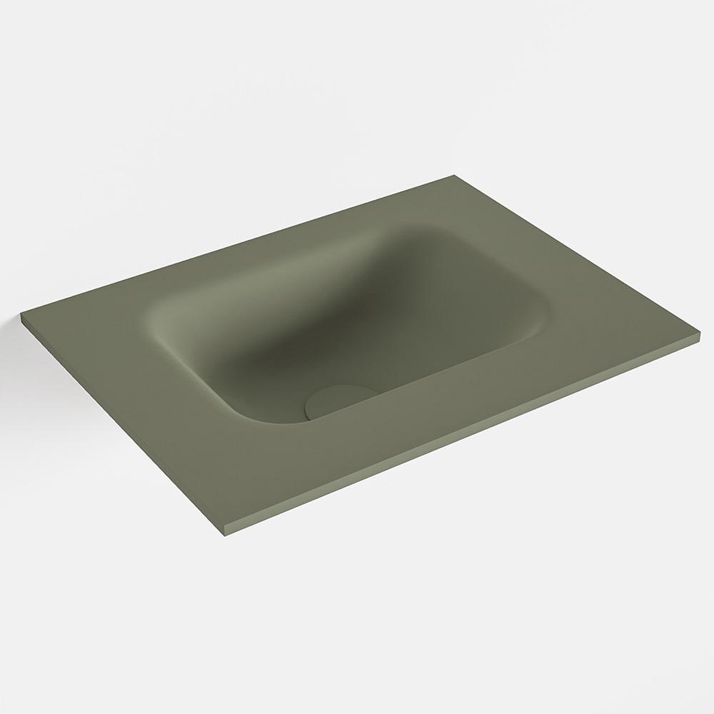 Productafbeelding van MONDIAZ LEX Army solid surface inleg wastafel voor toiletmeubel 40cm. Positie wasbak midden