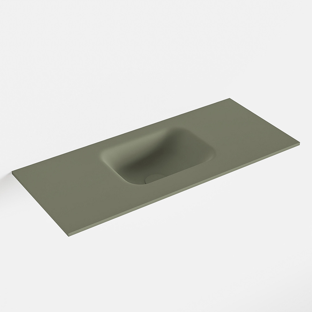 MONDIAZ LEX Army solid surface inleg wastafel voor toiletmeubel 70cm. Positie wasbak midden