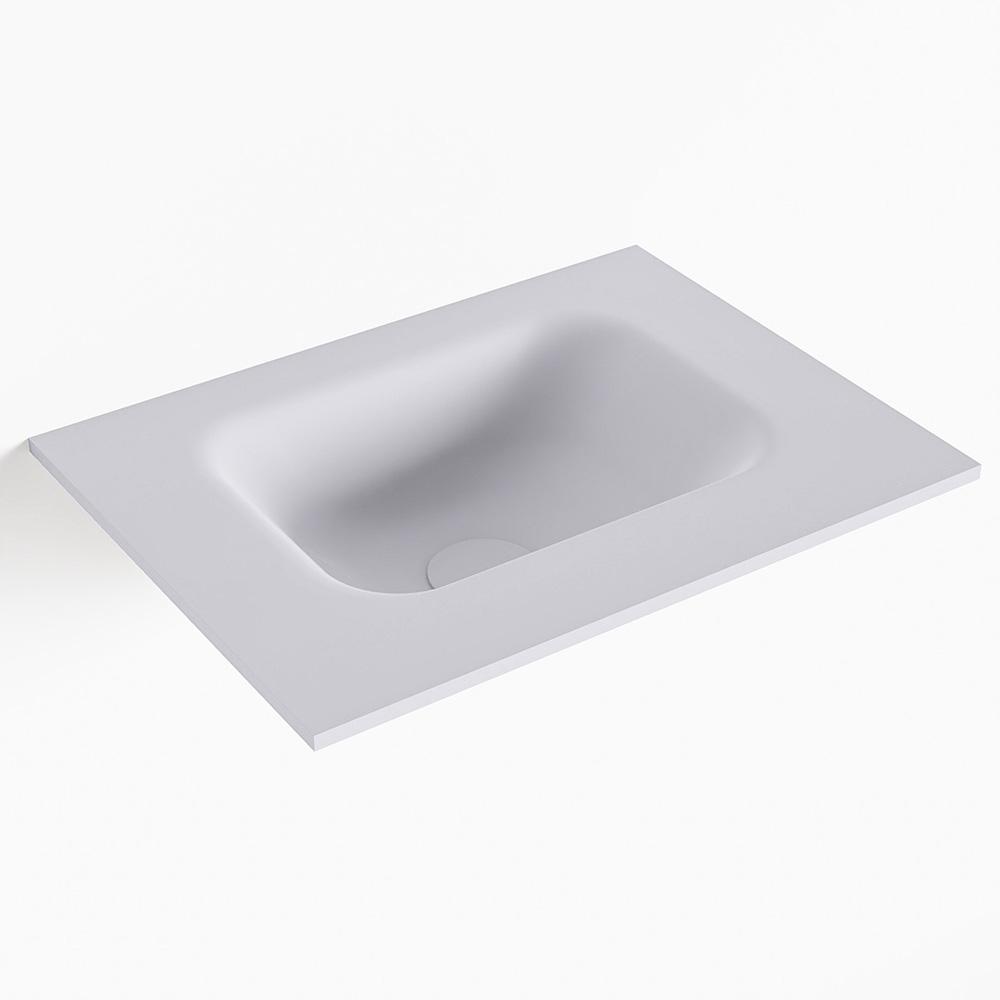 MONDIAZ LEX Cale solid surface inleg wastafel voor toiletmeubel 40cm. Positie wasbak midden