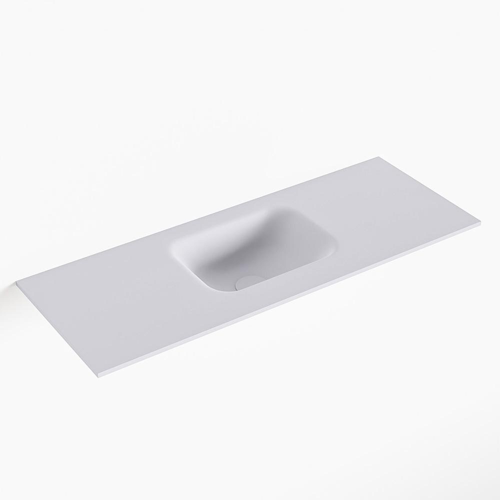 MONDIAZ LEX Cale solid surface inleg wastafel voor toiletmeubel 80cm. Positie wasbak midden
