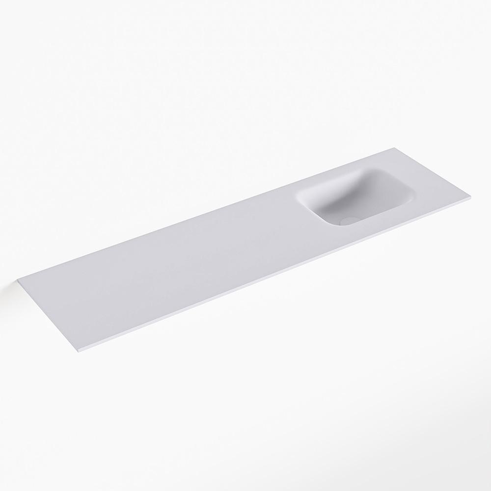 MONDIAZ LEX Cale solid surface inleg wastafel voor toiletmeubel 110cm. Positie wasbak rechts