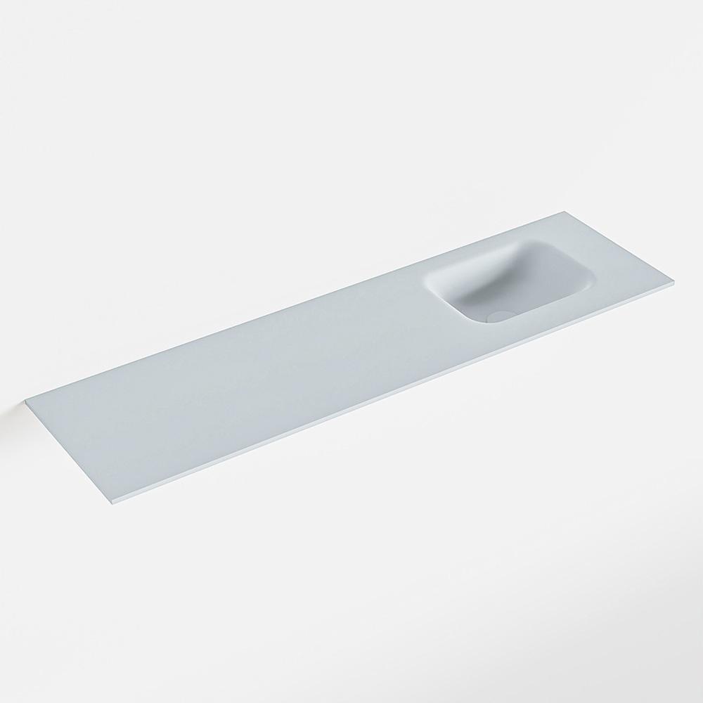 Productafbeelding van MONDIAZ LEX Clay solid surface inleg wastafel voor toiletmeubel 110cm. Positie wasbak rechts