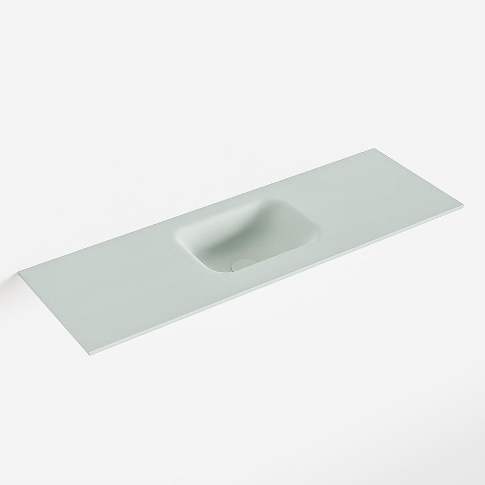 Productafbeelding van MONDIAZ LEX Greey solid surface inleg wastafel voor toiletmeubel 90cm. Positie wasbak midden