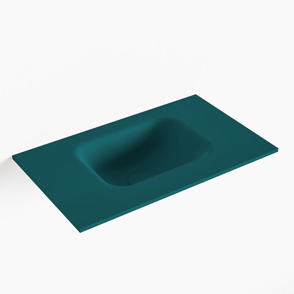 MONDIAZ LEX Smag solid surface inleg wastafel voor toiletmeubel 50cm. Positie wasbak midden