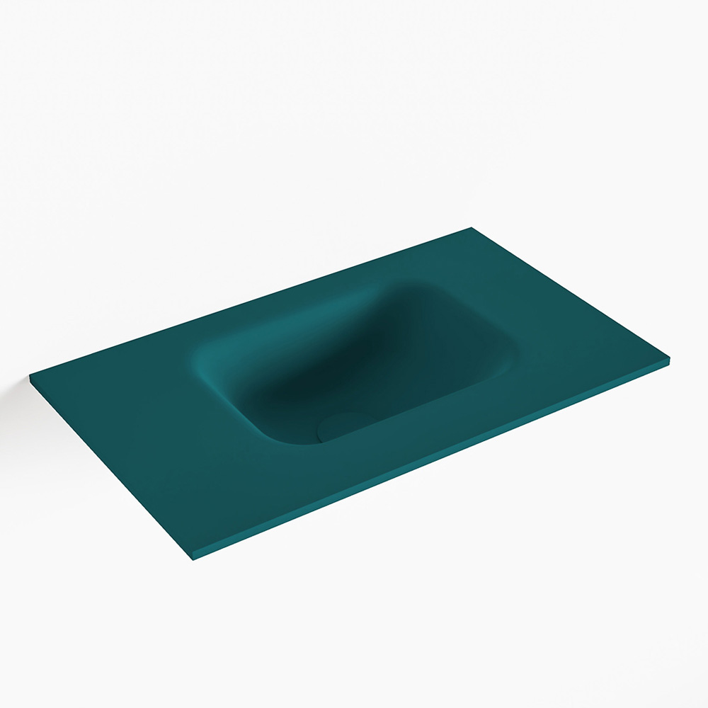 MONDIAZ LEX Smag solid surface inleg wastafel voor toiletmeubel 50cm. Positie wasbak rechts