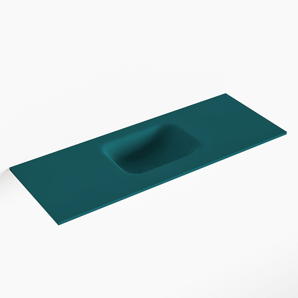 MONDIAZ LEX Smag solid surface inleg wastafel voor toiletmeubel 80cm. Positie wasbak midden