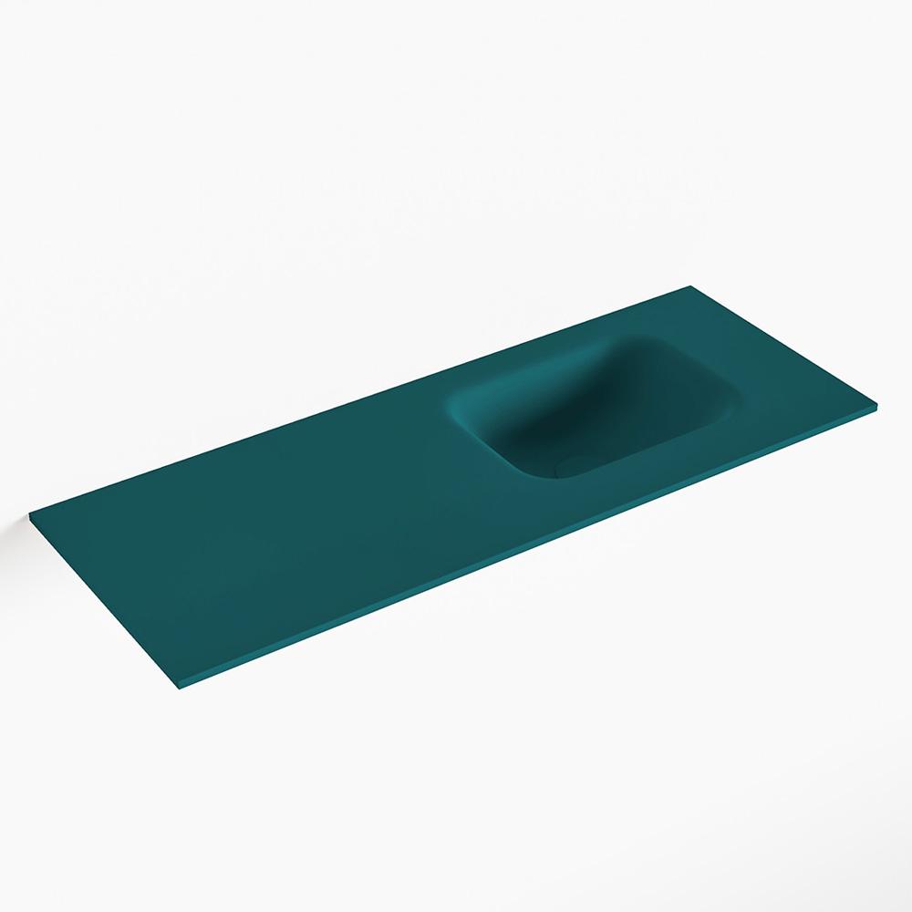 MONDIAZ LEX Smag solid surface inleg wastafel voor toiletmeubel 80cm. Positie wasbak rechts