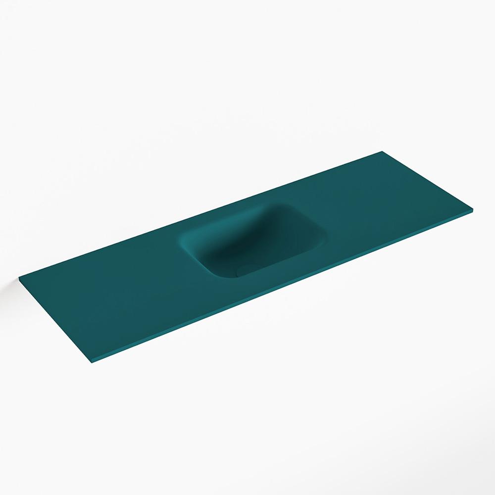 MONDIAZ LEX Smag solid surface inleg wastafel voor toiletmeubel 90cm. Positie wasbak midden