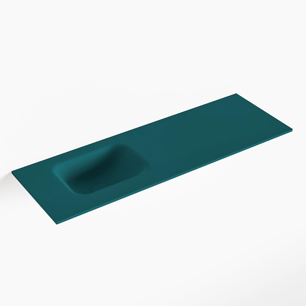 MONDIAZ LEX Smag solid surface inleg wastafel voor toiletmeubel 90cm. Positie wasbak links