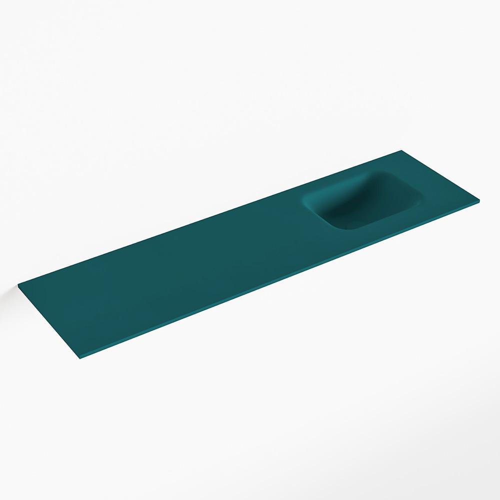 MONDIAZ LEX Smag solid surface inleg wastafel voor toiletmeubel 110cm. Positie wasbak rechts