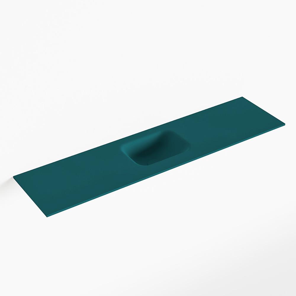 MONDIAZ LEX Smag solid surface inleg wastafel voor toiletmeubel 120cm. Positie wasbak midden