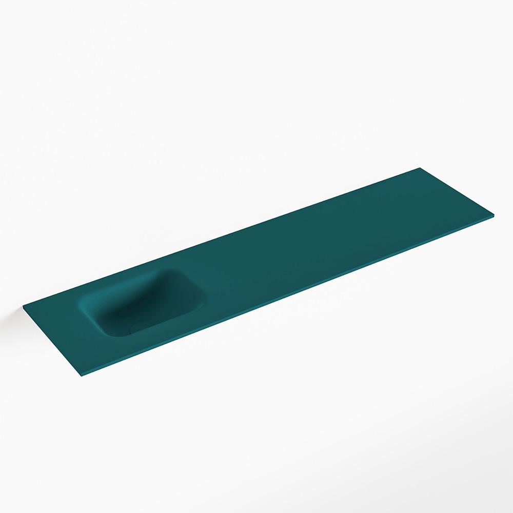 MONDIAZ LEX Smag solid surface inleg wastafel voor toiletmeubel 120cm. Positie wasbak links