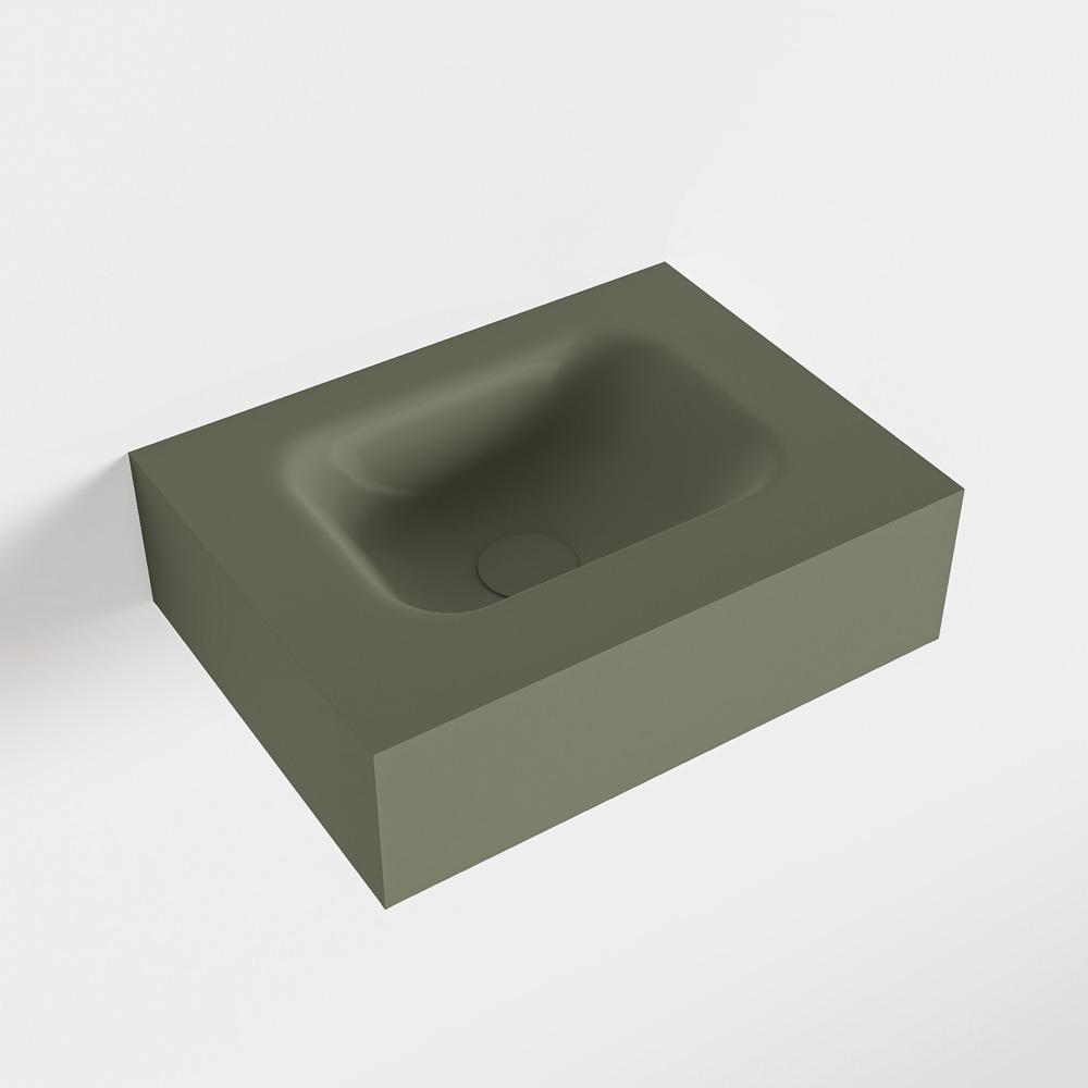 MONDIAZ LEX Army vrijhangende solid surface wastafel 40cm. Positie wasbak midden
