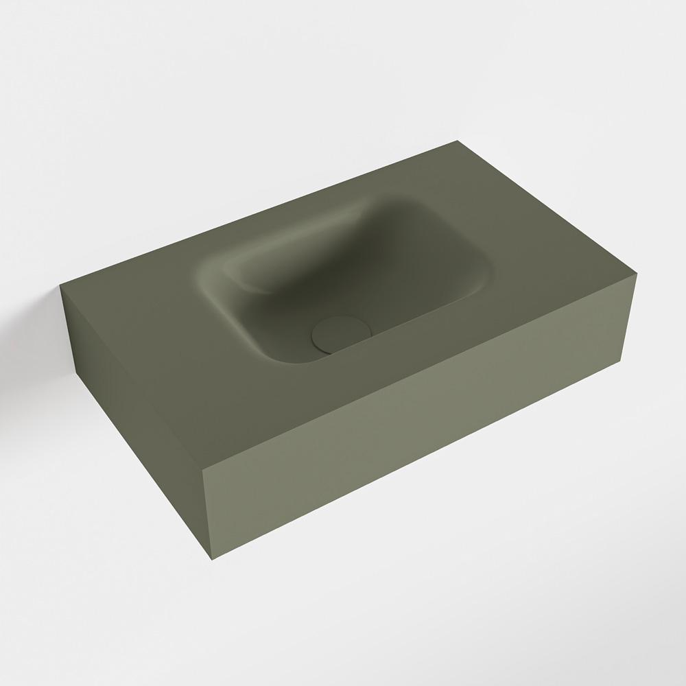 Productafbeelding van MONDIAZ LEX Army vrijhangende solid surface wastafel 50cm. Positie wasbak midden