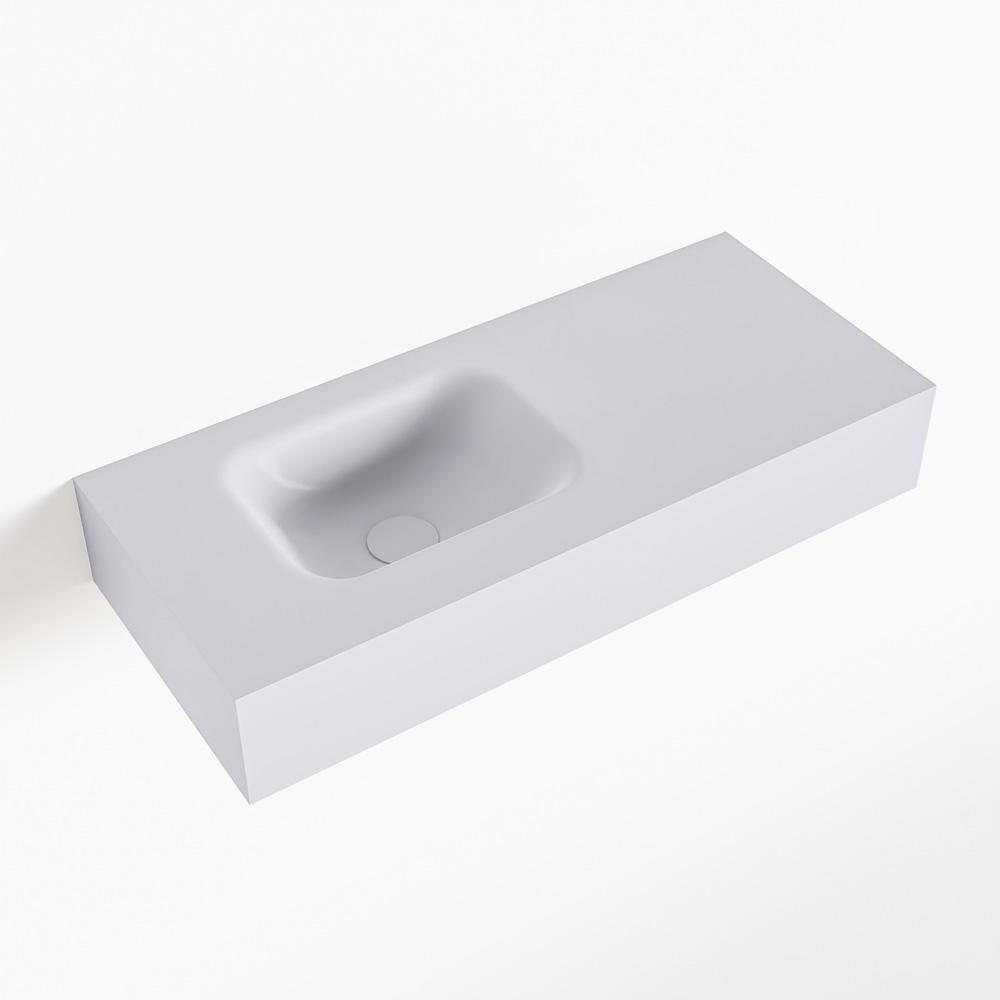 MONDIAZ LEX Cale vrijhangende solid surface wastafel 70cm. Positie wasbak links