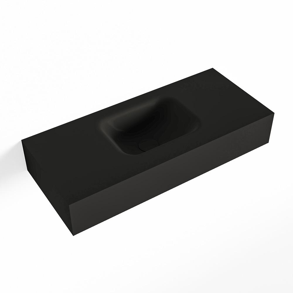 MONDIAZ LEX Urban vrijhangende solid surface wastafel 70cm. Positie wasbak midden
