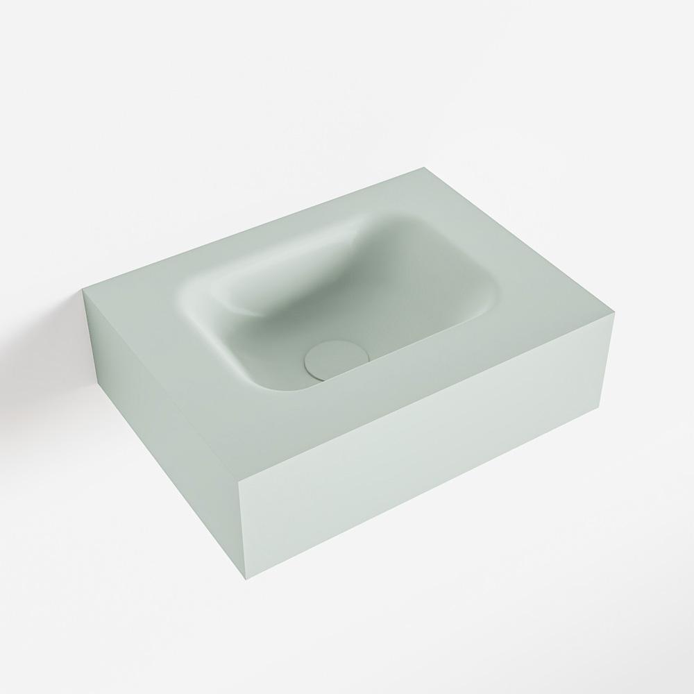Productafbeelding van MONDIAZ LEX Greey vrijhangende solid surface wastafel 40cm. Positie wasbak midden