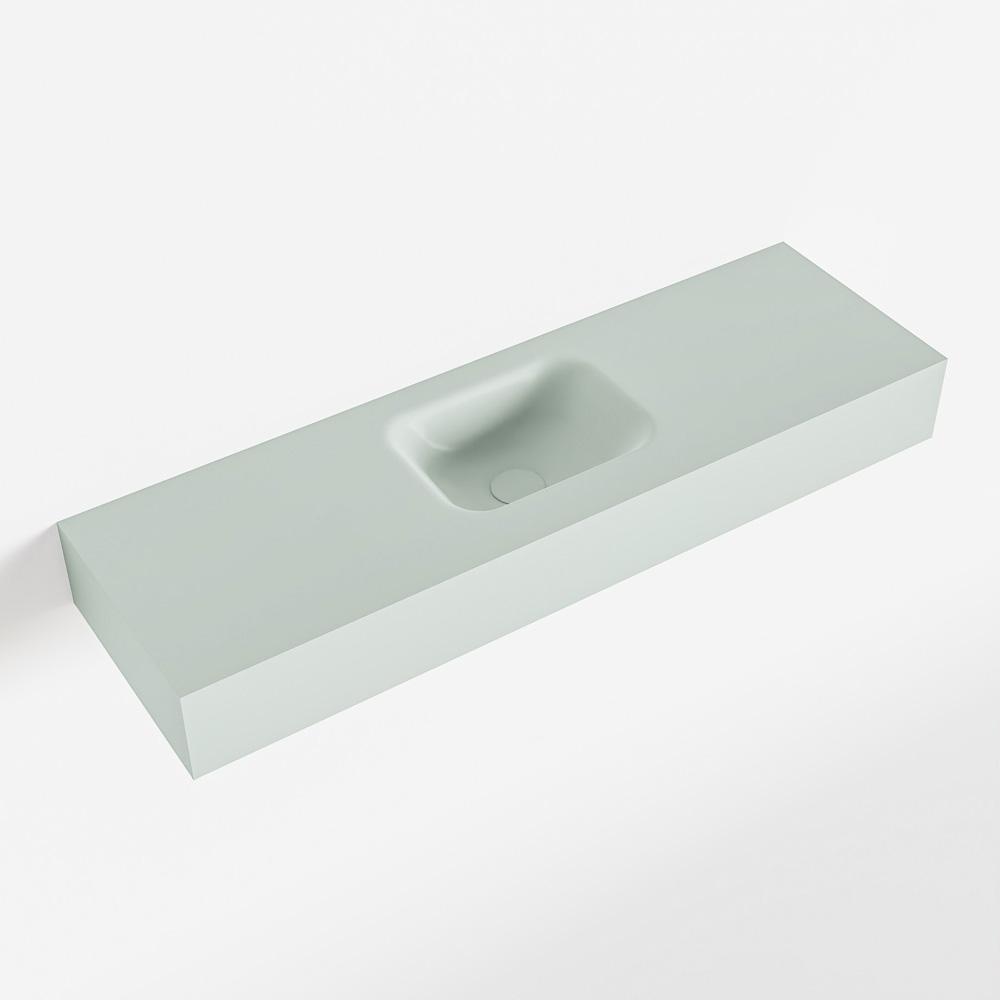 MONDIAZ LEX Greey vrijhangende solid surface wastafel 100cm. Positie wasbak midden