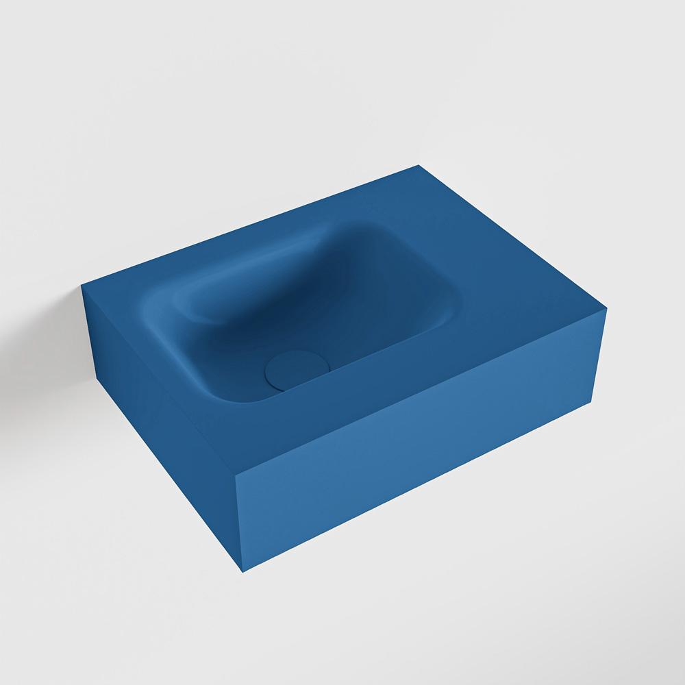 MONDIAZ LEX Jeans vrijhangende solid surface wastafel 40cm. Positie wasbak links