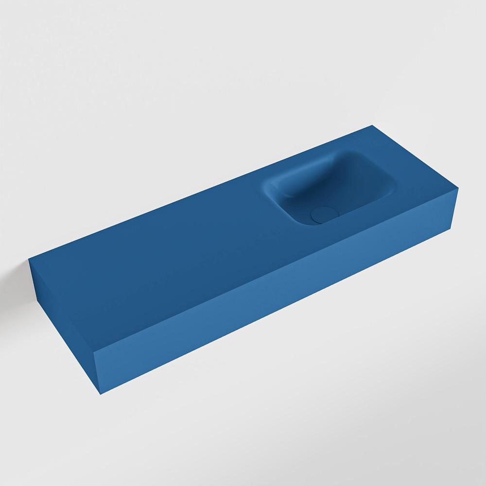 MONDIAZ LEX Jeans vrijhangende solid surface wastafel 90cm. Positie wasbak rechts