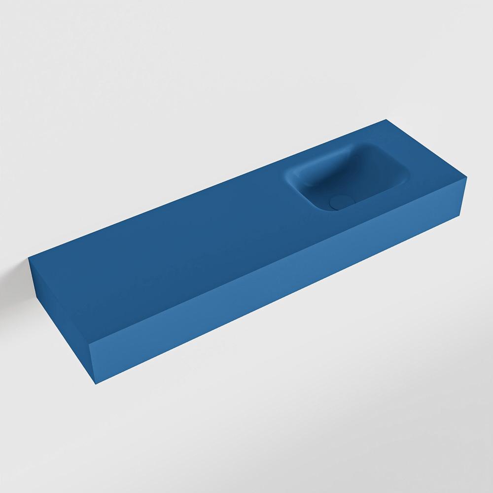 MONDIAZ LEX Jeans vrijhangende solid surface wastafel 100cm. Positie wasbak rechts