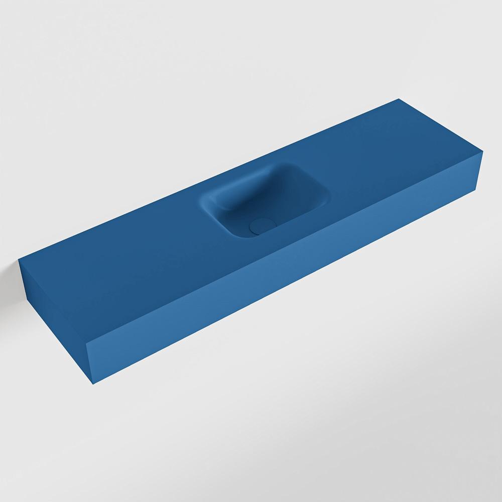 MONDIAZ LEX Jeans vrijhangende solid surface wastafel 110cm. Positie wasbak midden