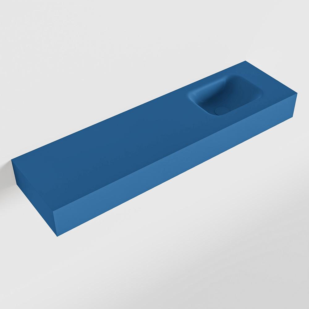 MONDIAZ LEX Jeans vrijhangende solid surface wastafel 110cm. Positie wasbak rechts