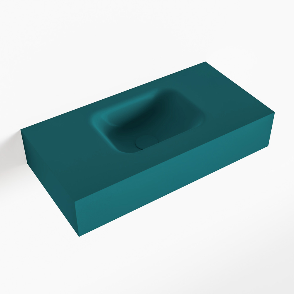 MONDIAZ LEX Smag vrijhangende solid surface wastafel 60cm. Positie wasbak midden