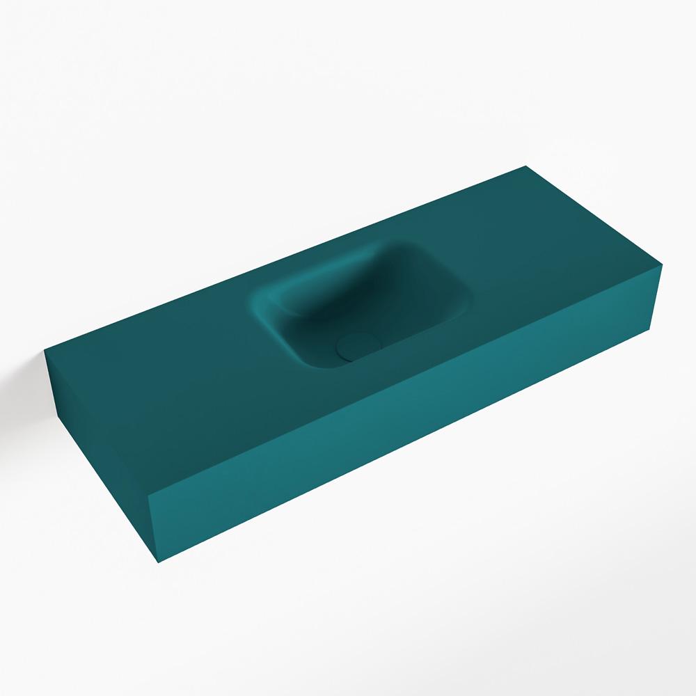 MONDIAZ LEX Smag vrijhangende solid surface wastafel 80cm. Positie wasbak midden