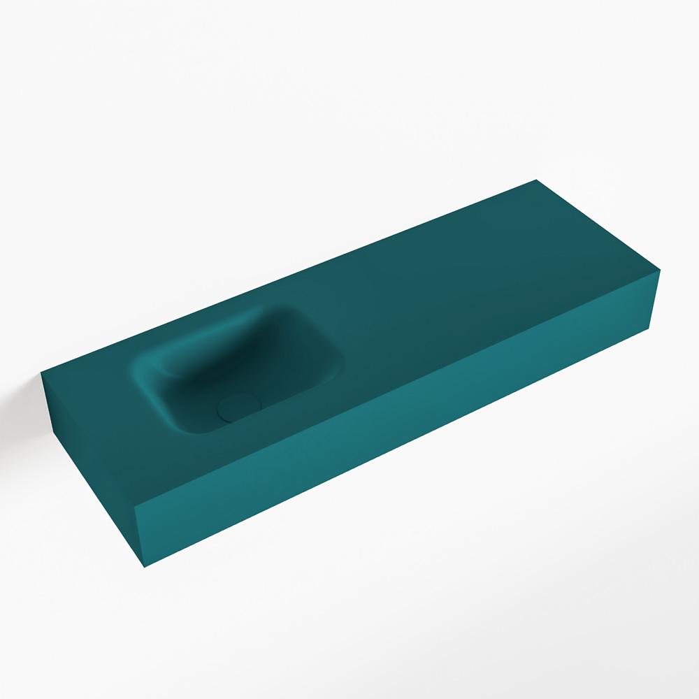 MONDIAZ LEX Smag vrijhangende solid surface wastafel 90cm. Positie wasbak links