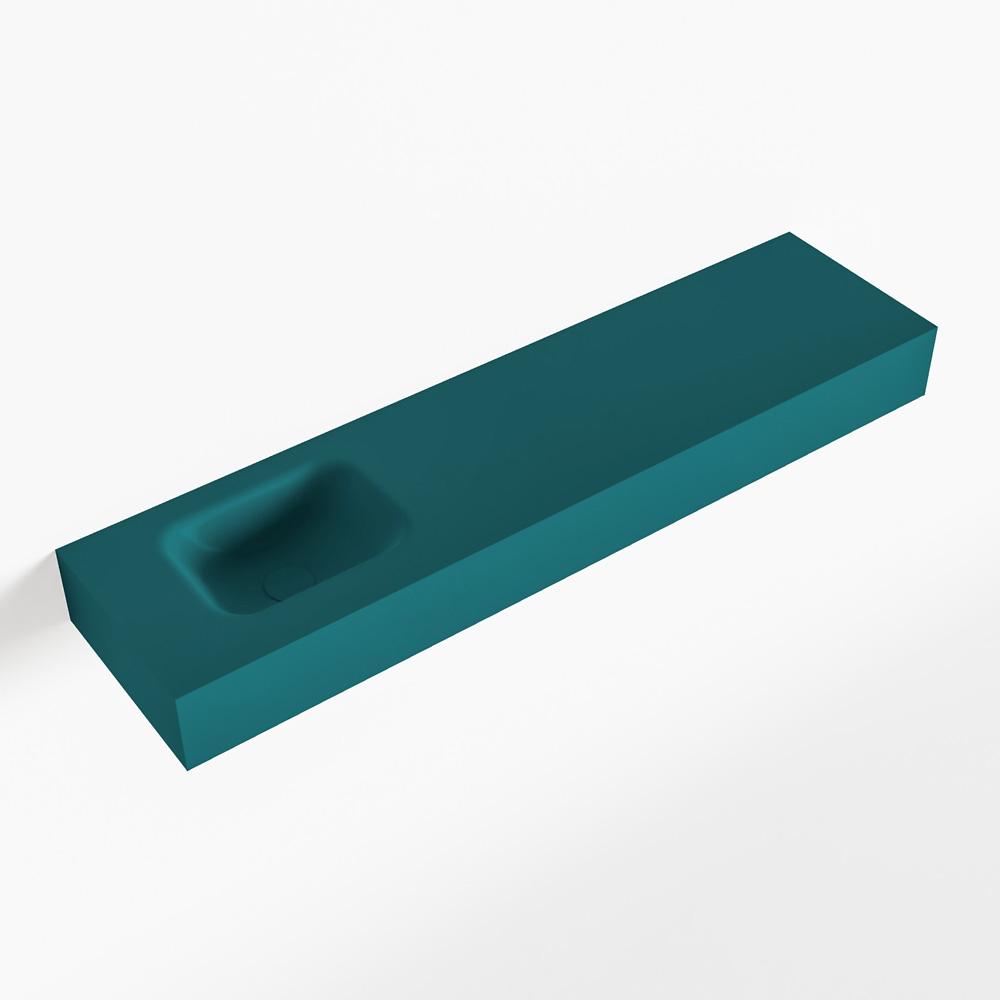 MONDIAZ LEX Smag vrijhangende solid surface wastafel 120cm. Positie wasbak links