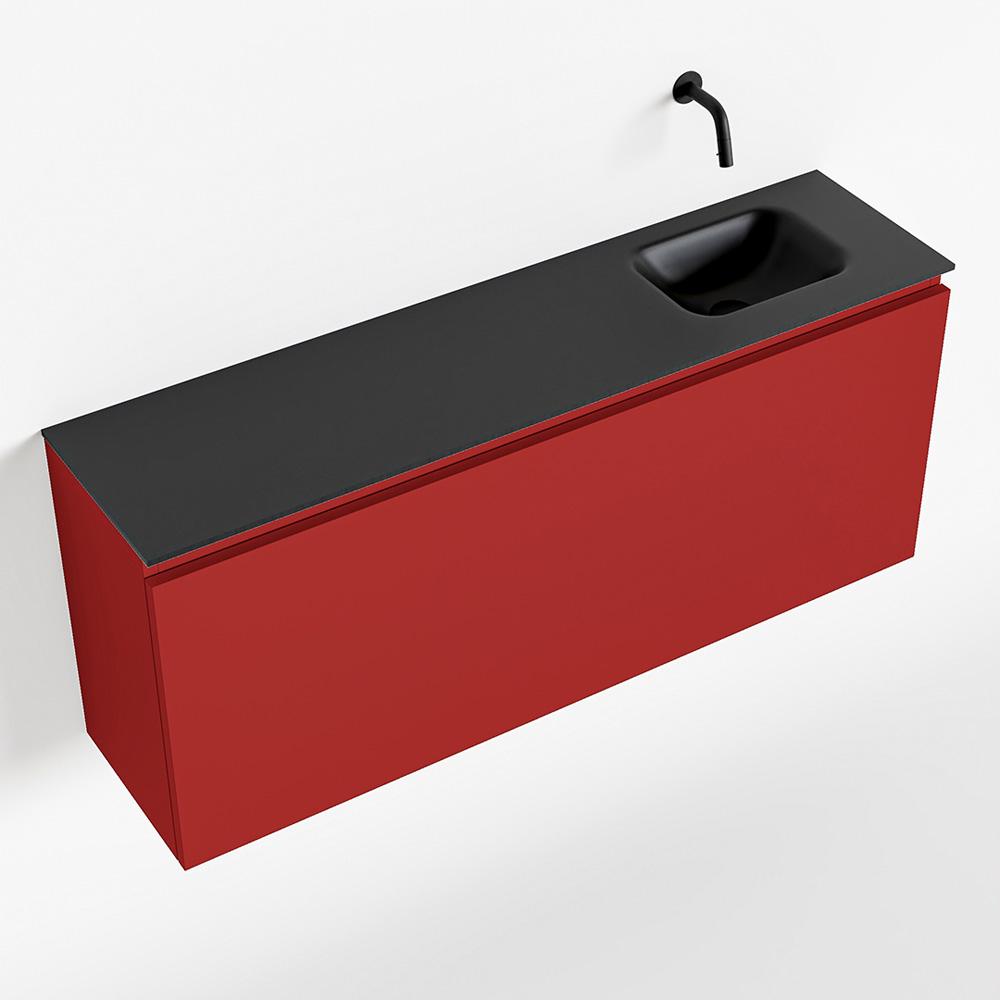 Productafbeelding van MONDIAZ OLAN 120cm toiletmeubel fire. LEX wastafel urban rechts geen kraangat
