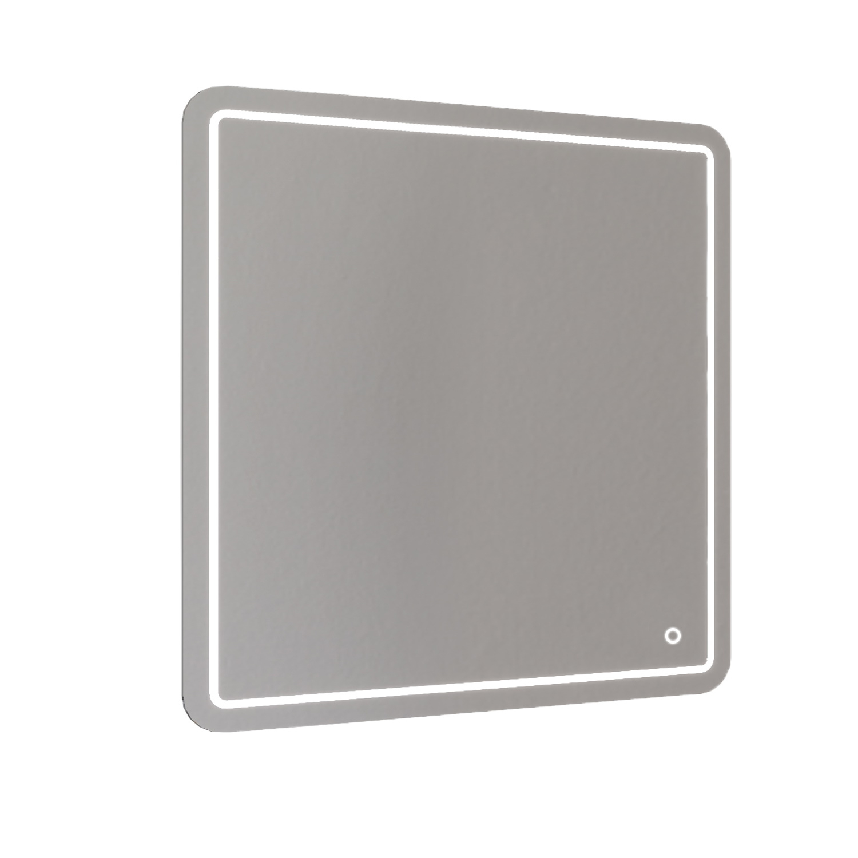 Badkamerspiegel Allibert Kruz LED Verlichting 28 W Vierkant 80x80x3 cm