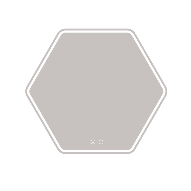 Badkamerspiegel Allibert Zack LED Verlichting 12 W Hexagon 79x70x2.8 cm