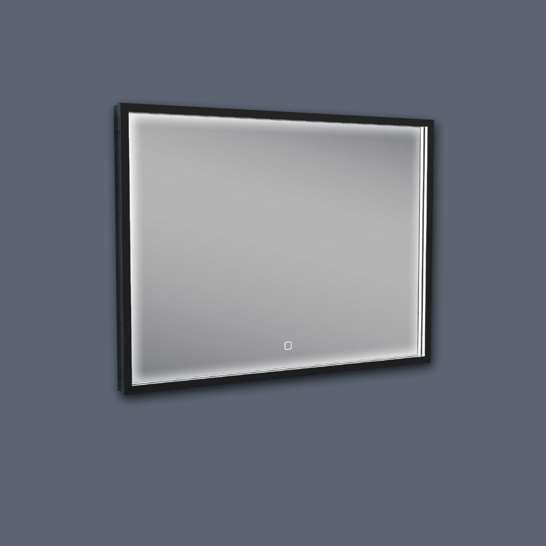 Badkamerspiegel Boss & Wessing Miami LED Verlichting Mat Zwart 80x60 cm