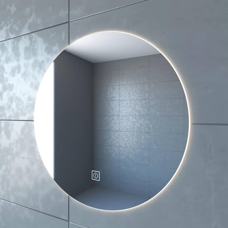 Badkamerspiegel boss & wessing rond 60 cm led verlichting warm white deze luxe badkamerspiegel van boss ...