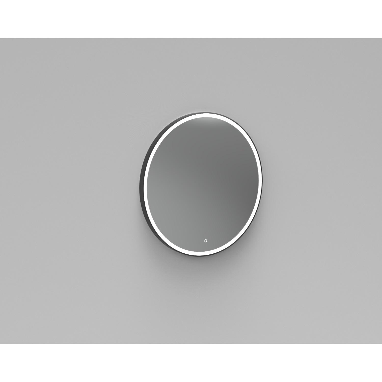 Badkamer Badkamerspiegel Rond LED Verlichting Boss & Wessing Reflect 80 cm Mat Zwart Spiegels