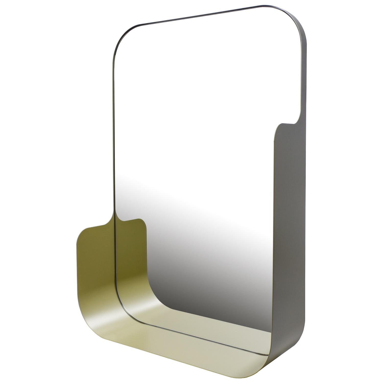 Badkamerspiegel Haceka Pekodom Inclusief Planchet Goud Metaal 60x40x12 cm