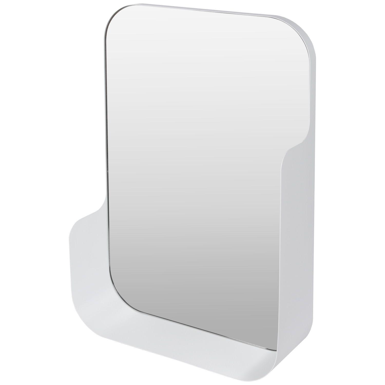 Badkamerspiegel Haceka Pekodom Inclusief Planchet Wit Metaal 60x40x12 cm