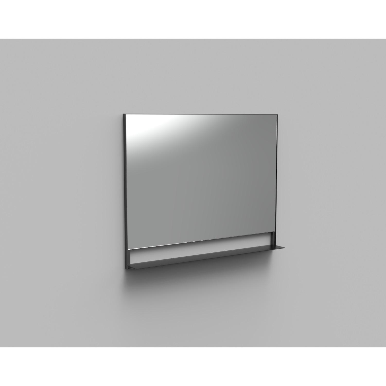 Badkamer Badkamerspiegel met Planchet Boss & Wessing Reflect 100×80 cm Mat Zwart Spiegels