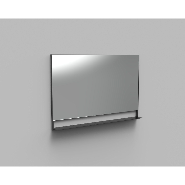 Badkamer Badkamerspiegel met Planchet Boss & Wessing Reflect 120×80 cm Mat Zwart Spiegels
